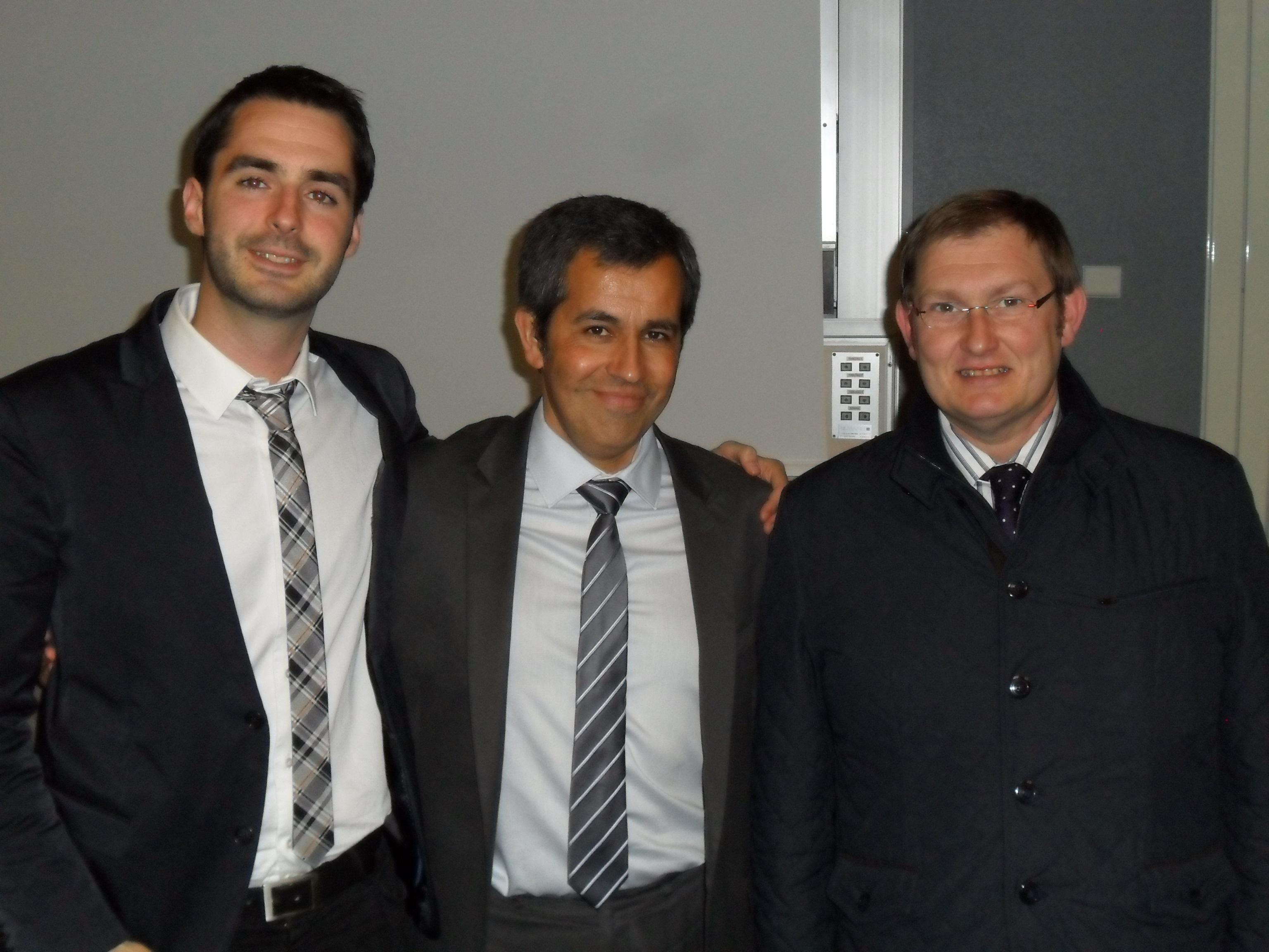 Adrián J. Sáez, Emmanuel Marigno y Juan M. Escudero.
