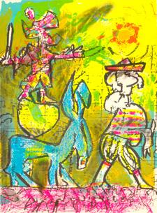 El Quijote de Matta en Diálogo con Gonzalo Rojas. Imagen de la exposición [fuente: Centro Cultural de España]