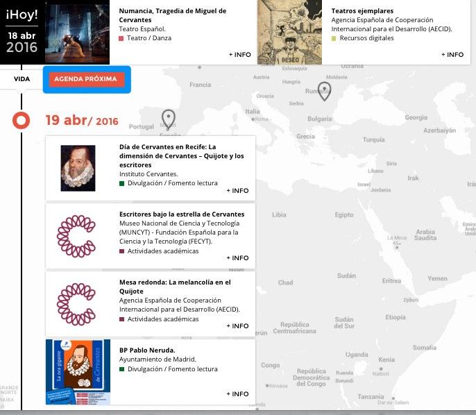 Página oficial 400cervantes.es [captura]