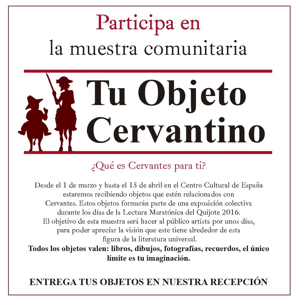 Muestra comunitaria sobre Cervantes en el Centro Cultural de España en Santiago de Chile