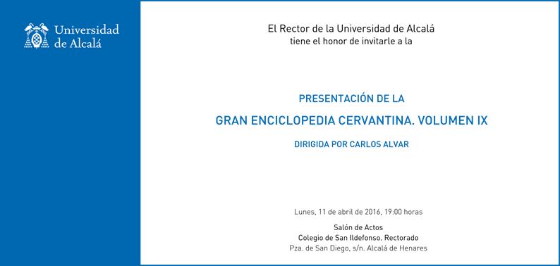Invitación a la presentación del IX tomo de la GEC