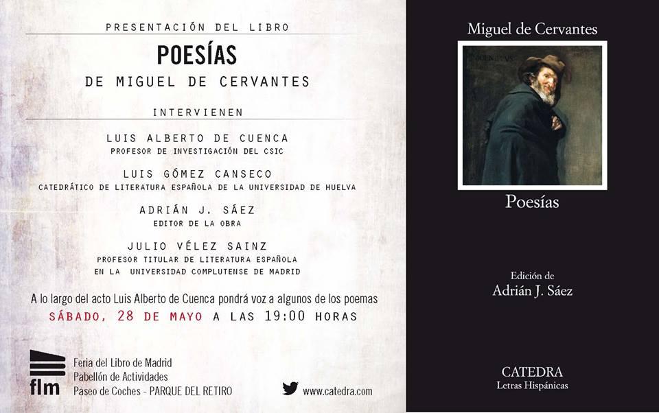 Presentación de Poesías de Miguel de Cervantes