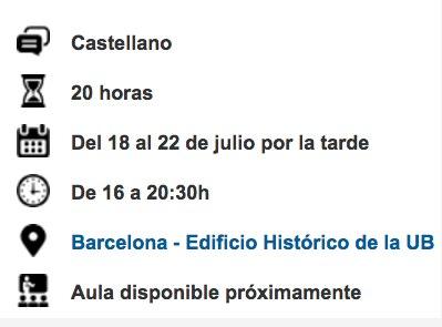 Cursos de verano Els Juliols 2016 - Cervantes, hoy - Universitat de Barcelona