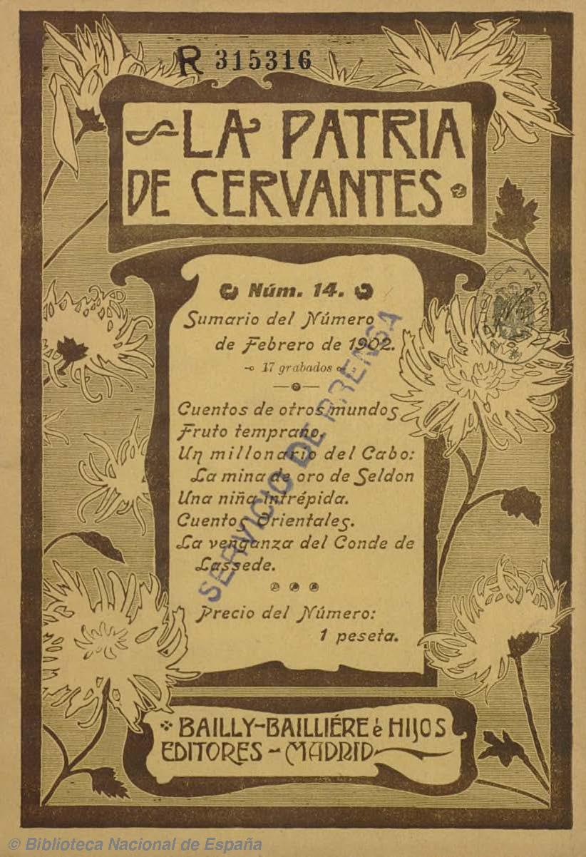 La Patria de Cervantes (Madrid). (N. 2, 1902) [fuente: Biblioteca Nacional de España]