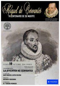 La juventud de Cervantes. Ateneo 10 octubre