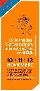 IX Jornadas Cervantinas Internacionales en Azul